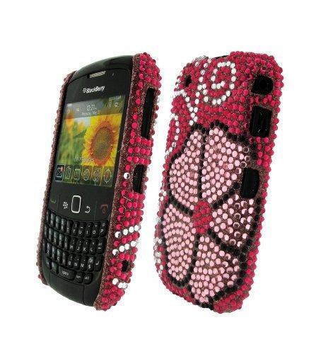 Bling It On Back Cover Diamante Flower for BlackBerry Curve 8520