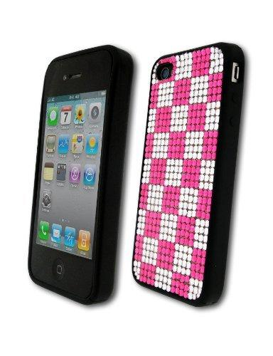 Bling It On Back Cover Diamante Chequer for iPhone 4/4S