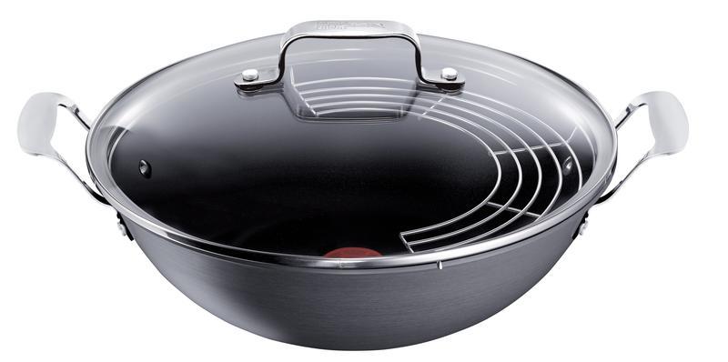 best pris p tefal jamie oliver hard anodised wok 32cm. Black Bedroom Furniture Sets. Home Design Ideas