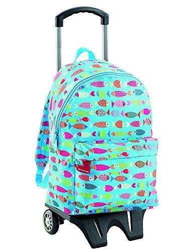 Miquelrius Agatha Ruiz de la Prada Fish Double Backpack with Trolley (Jr)