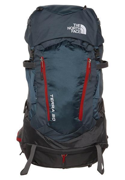 The North Face - Terra 50 - Sac à dos de trekking taille 50 l - S/M, gris/vert olive/noir