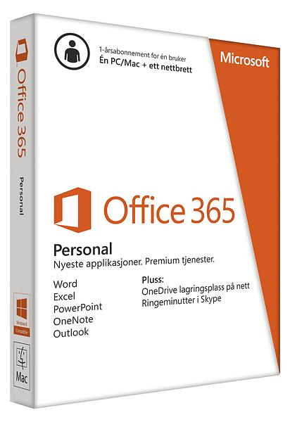 microsoft office 365 personal komplett no best pris p 229 microsoft office 365 personal nor 238