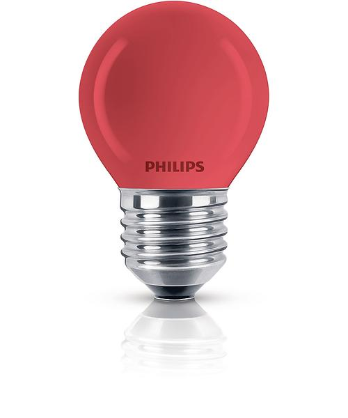 Philips Incandescent Luster Red E27 15W (Dimmerabile)