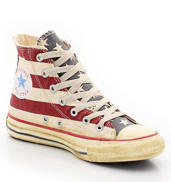 Converse Chuck Taylor Distressed Flag Canvas Hi (Unisex)