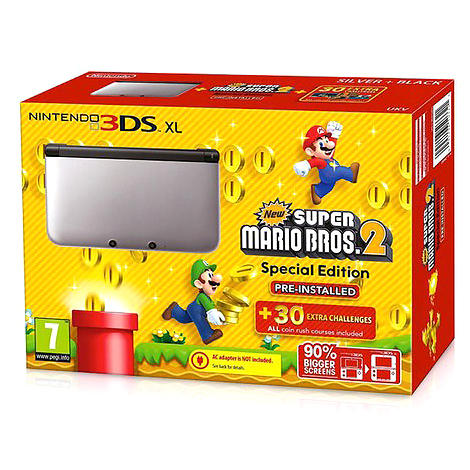 nintendo 3ds xl new super mario bros 2 special edition au meilleur prix comparez les. Black Bedroom Furniture Sets. Home Design Ideas