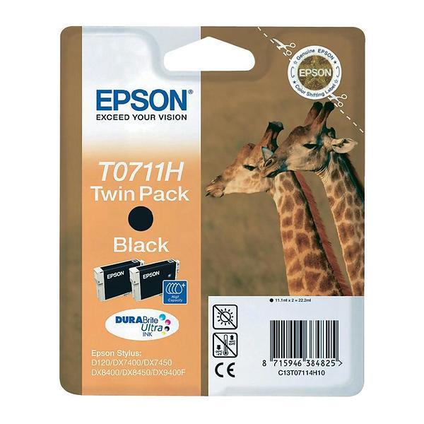 Epson T0711H (Nero) 2-pack