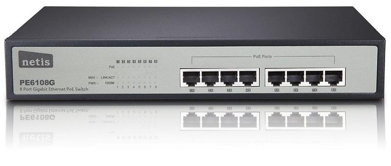 Netis 8-Port Gigabit Ethernet PoE Switch (PE6108G)