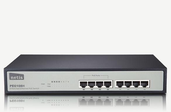 Netis 8-Port Fast Ethernet PoE Switch (PE6108H)