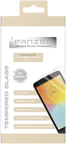 Panzer Tempered Glass Screen Protector for LG L Bello