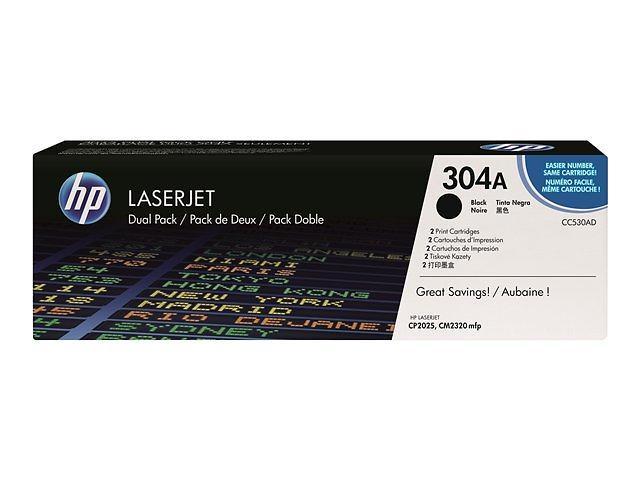 HP 304A (Nero) 2-pack