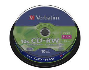 Verbatim CD-RW 700MB 12x 10pz Spindle
