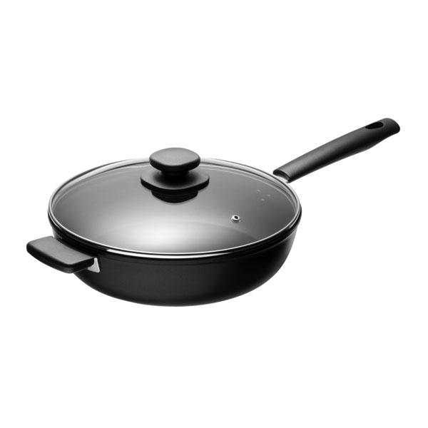 46be8363987 Fiskars Hard Face Sauté Pan 28cm (with Extra Handle) Best Price | Compare  deals at PriceSpy UK