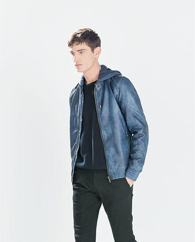 e463f787a90 Jacket Faux Jacka Zara With Leather herr Specs För Hood 0706404 w4HvqnzIxE