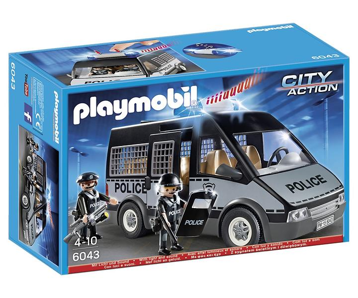 playmobil city action 6043 fourgon de police avec sir ne. Black Bedroom Furniture Sets. Home Design Ideas