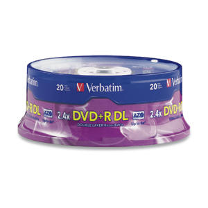 Verbatim DVD+R DL 8,5GB 2,4x 20pz Spindle