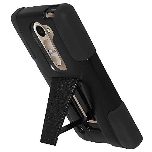 Amzer Double Layer Hybrid Case with Kickstand for LG Leon 4G