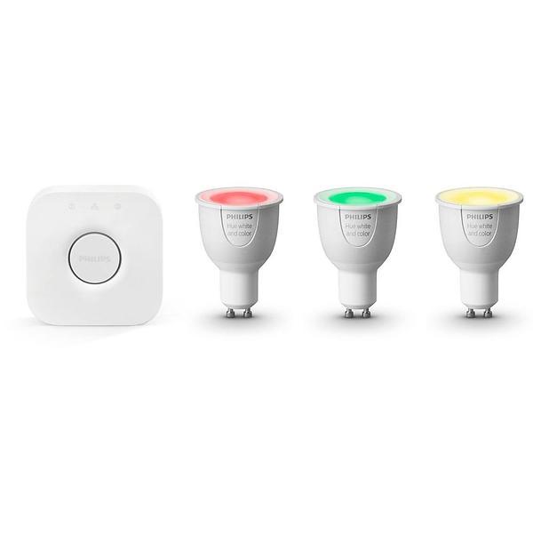 Bild på Philips Hue White and Color Ambiance Starter Kit GU10 6,5W 3-pack (Dimbar) från Prisjakt.nu