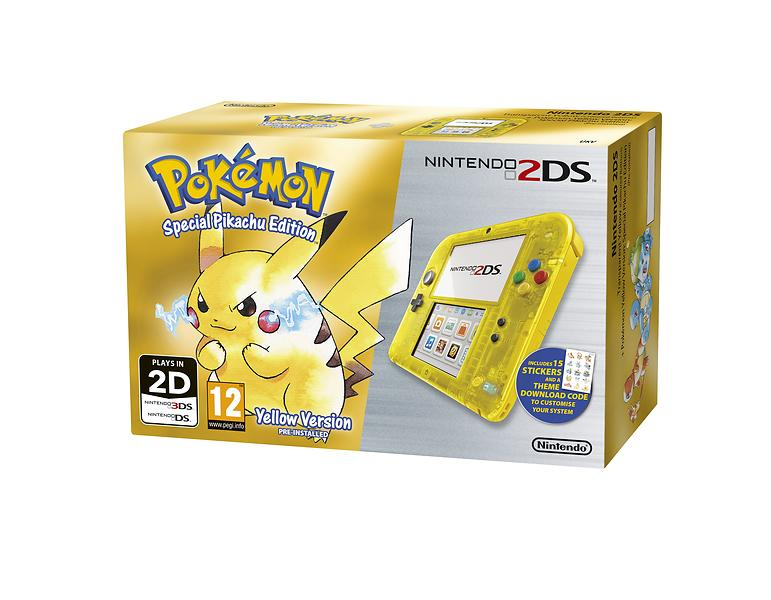 Nintendo 2DS (+ Pokémon Yellow) - Pikachu Edition