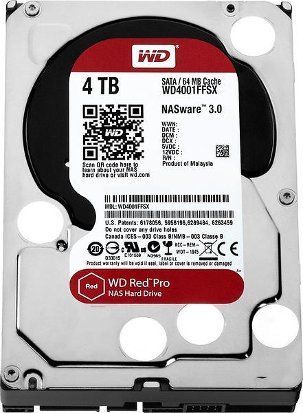 WD Red Pro WD4002FFWX 128MB 4TB