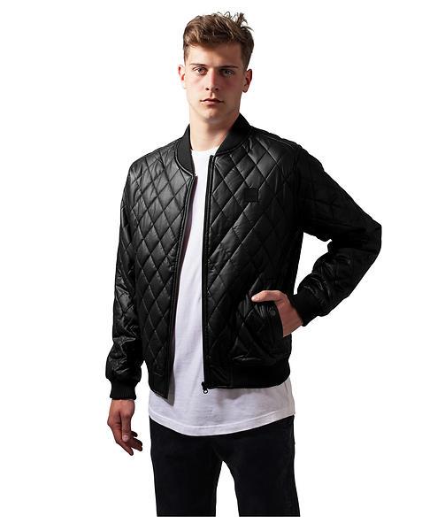 Urban Classics Diamond Quilt Leather Imitation Jacket TB1150 (Uomo)