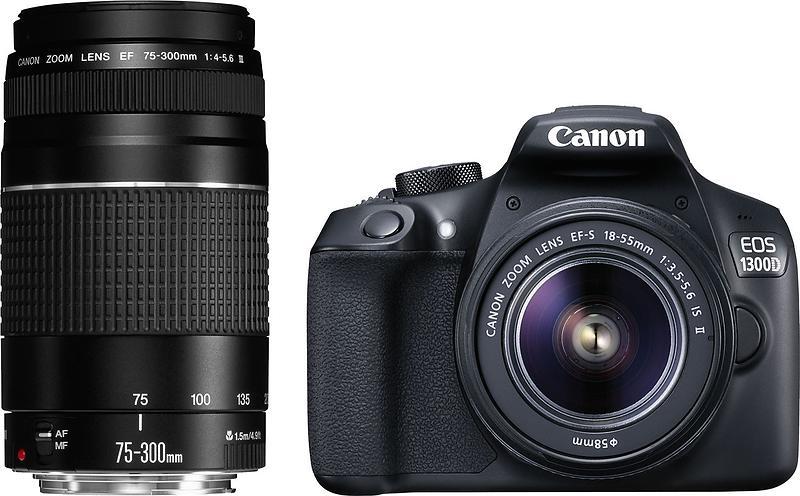 Canon EOS 1300D + 18-55/3 5-5 6 + 75-300/4 0-5 6