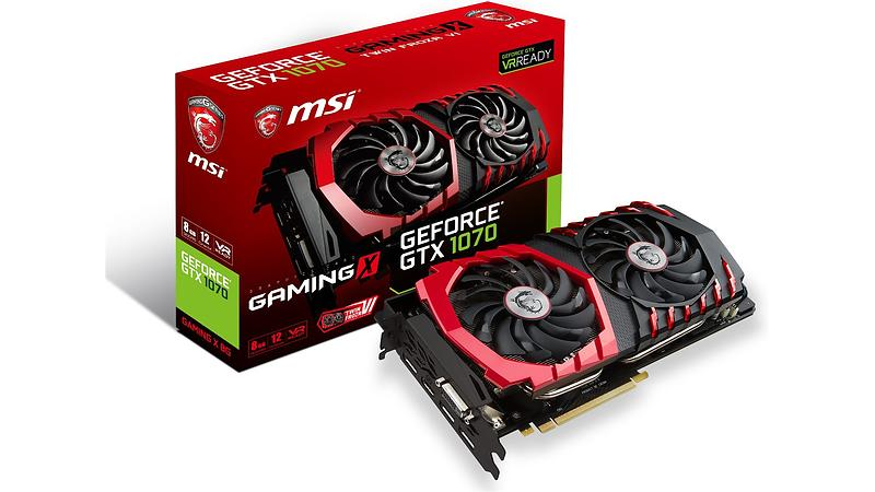 Bild på MSI GeForce GTX 1070 Gaming X HDMI 3xDP 8GB från Prisjakt.nu