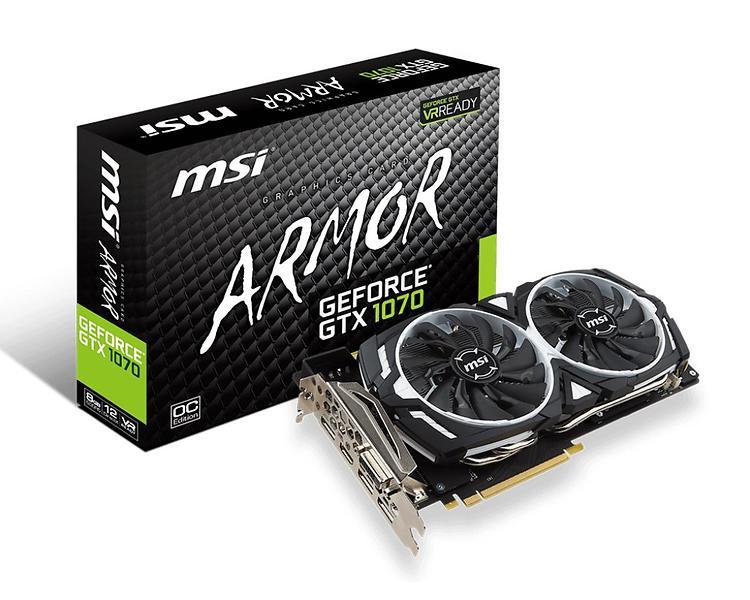 MSI GeForce GTX 1070 Armor OC HDMI 3xDP 8GB
