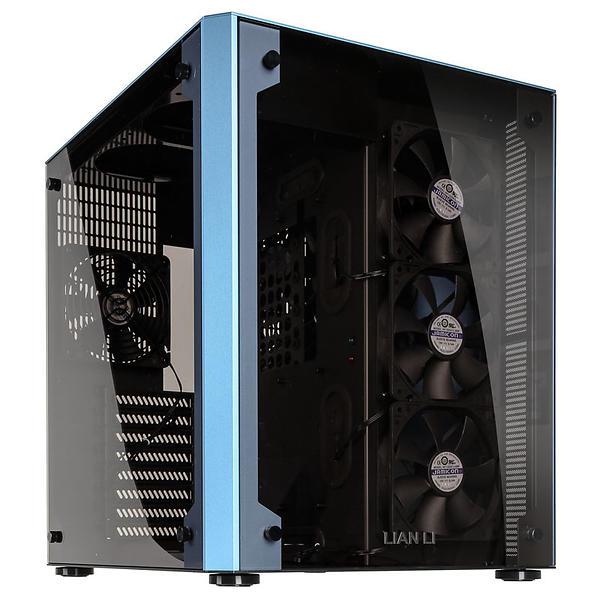 Lian Li PC-O8WBU (Blu/Trasparente)