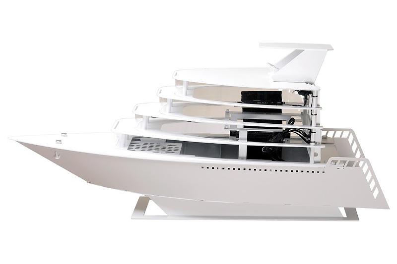 Lian Li PC-Y6 Odyssey Yacht (Bianco/Trasparente)