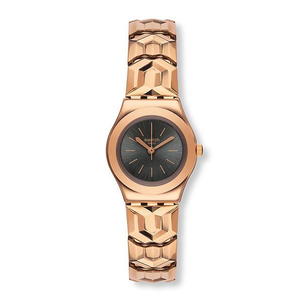 Темно-серые женские металлические часы Swatch в интернет