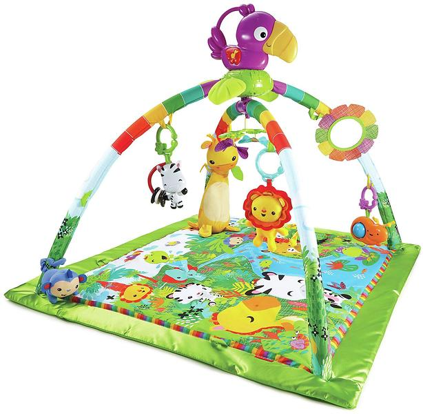 Fisher price rainforest music lights deluxe gym au - Tapis d eveil fisher price zoo deluxe ...