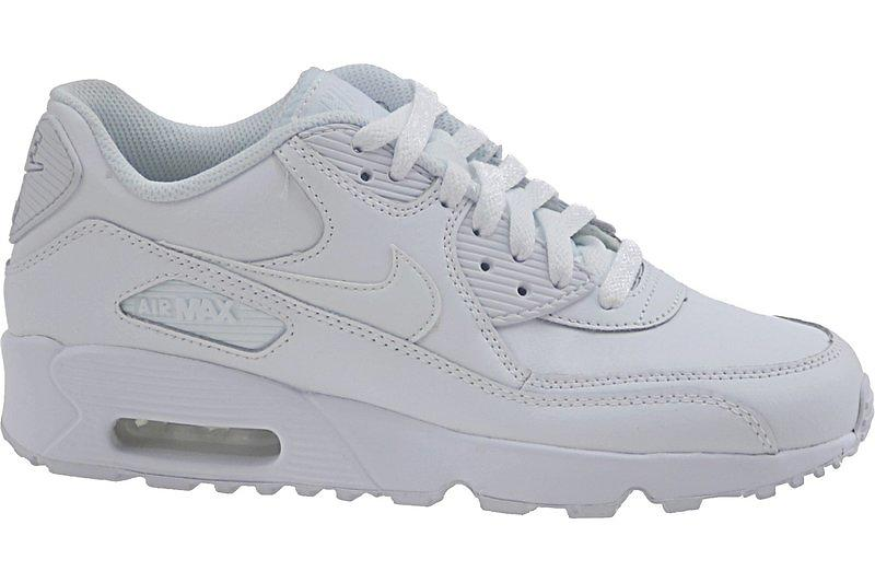 barn Nike Air Max 90 Td Hvit Mono Leather Mesh Unisex