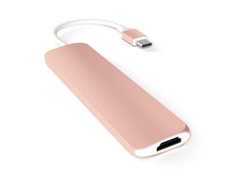 Bild på Satechi Slim Aluminium USB-C Multi-Port från Prisjakt.nu