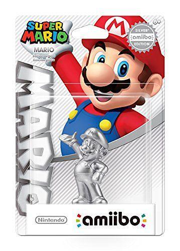 Nintendo Amiibo  Mario  Silver Edition