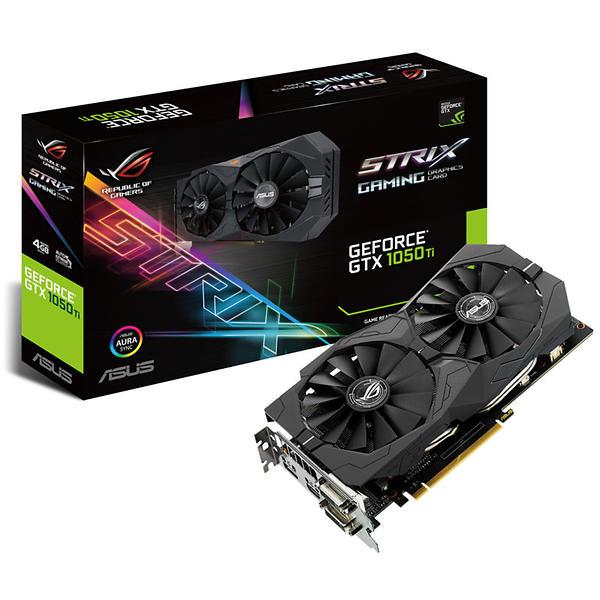 Asus GeForce GTX 1050 Ti ROG Strix Gaming HDMI DP 4GB