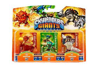 Skylanders Giants - Stealth Elf/Eruptor/Terrafin - 3 Pack