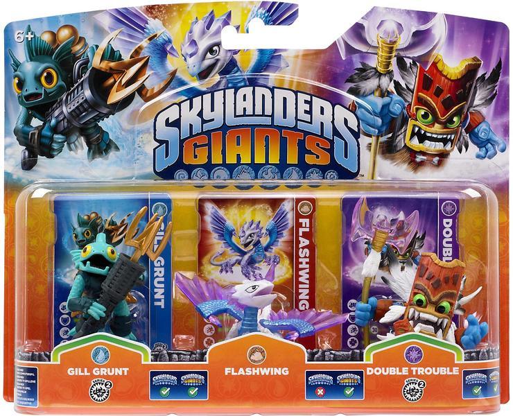 Skylanders Giants - Gill Grunt/Flashwing/Double Trouble - 3 Pack