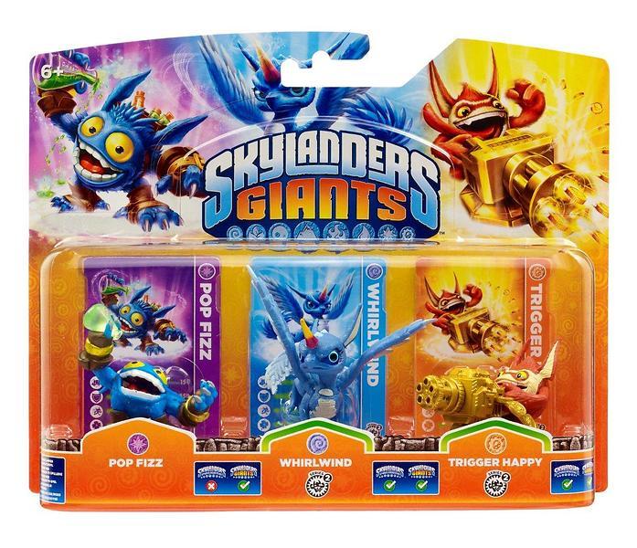Skylanders Giants - Popfizz/Tr.Happy/Whirlwind(G) - 3 Pack