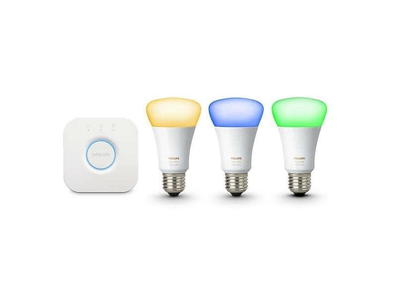 Bild på Philips Hue White and Color Ambiance Starter Kit E27 10W 3-pack (Dimbar) från Prisjakt.nu