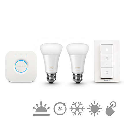 Philips Hue White Ambiance Starter Kit E27 LED 2-pack (Dimmerabile)