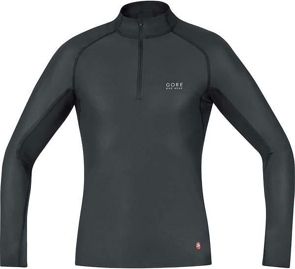 Gore Bike Wear Base Layer Windstopper Turtleneck LS Shirt Half Zip (Uomo)