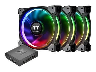 Thermaltake Premium Riing Plus 12 RGB PWM 120mm LED 3-pack