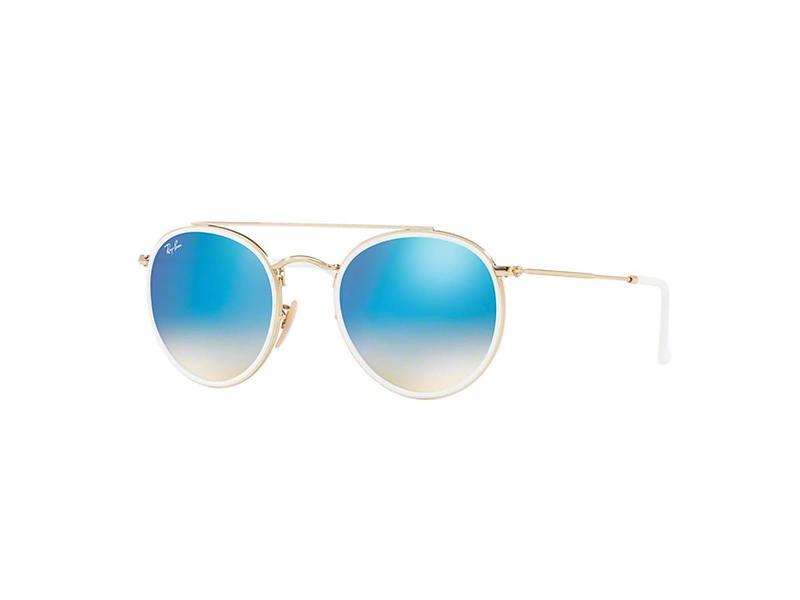 1a9279d7d2e20f Jämför priser på Ray-Ban RB3647N Round Double Bridge Solglasögon - Hitta  bästa pris på Prisjakt