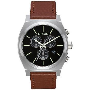 Nixon The Time Teller Chrono Leather