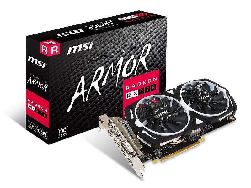 MSI Radeon RX 570 Armor OC HDMI 3xDP 4GB