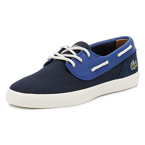Lacoste Jouer Canvas & Leather Boat (Uomo)