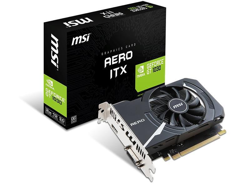 MSI GeForce GT 1030 Aero ITX OC HDMI 2GB