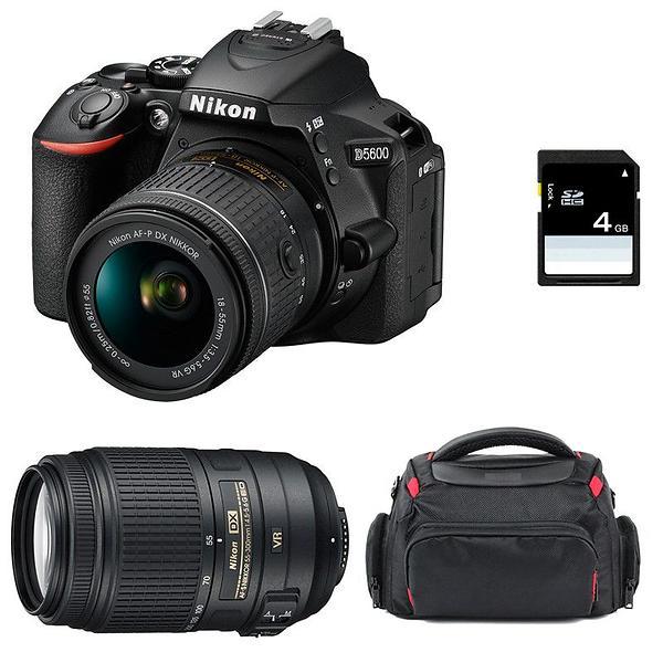 Nikon D5600 + AF-P 18-55/3 5-5 6 VR + 55-300/4 5-5 6 VR