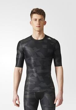 Adidas Techfit Chill Print Compression SS Shirt (Uomo)