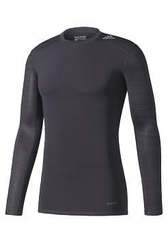 Adidas Techfit Base Print Compression LS Shirt Uomo